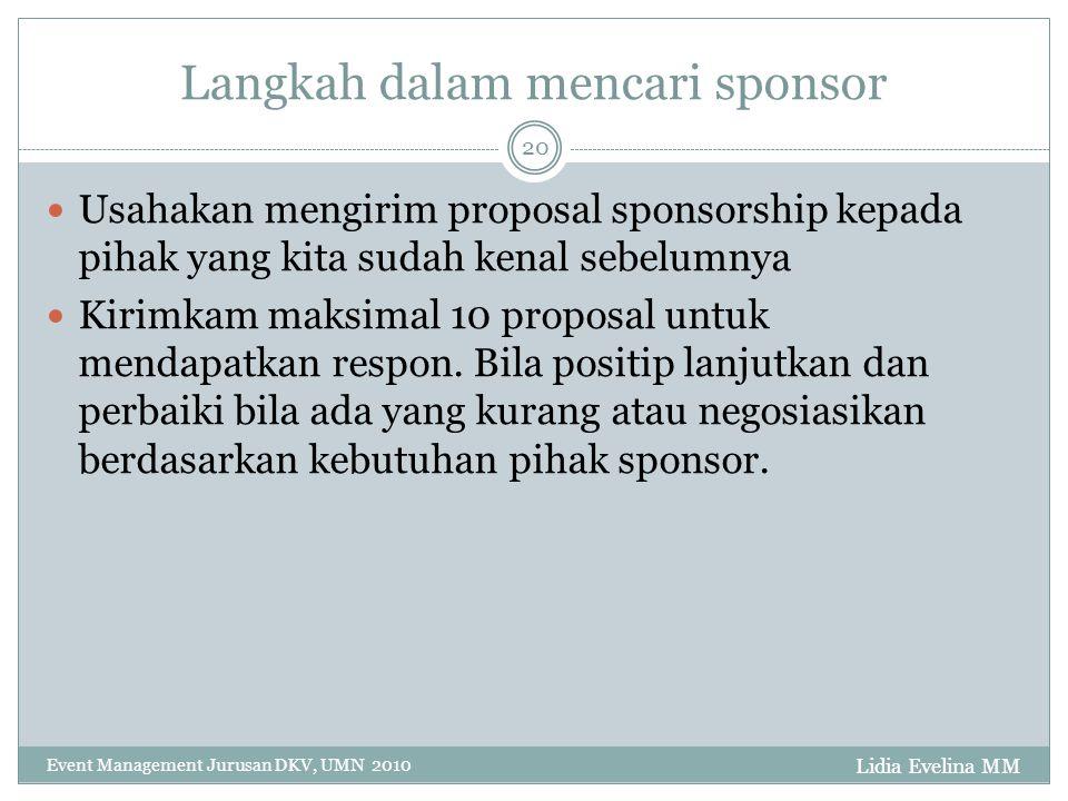 Langkah dalam mencari sponsor