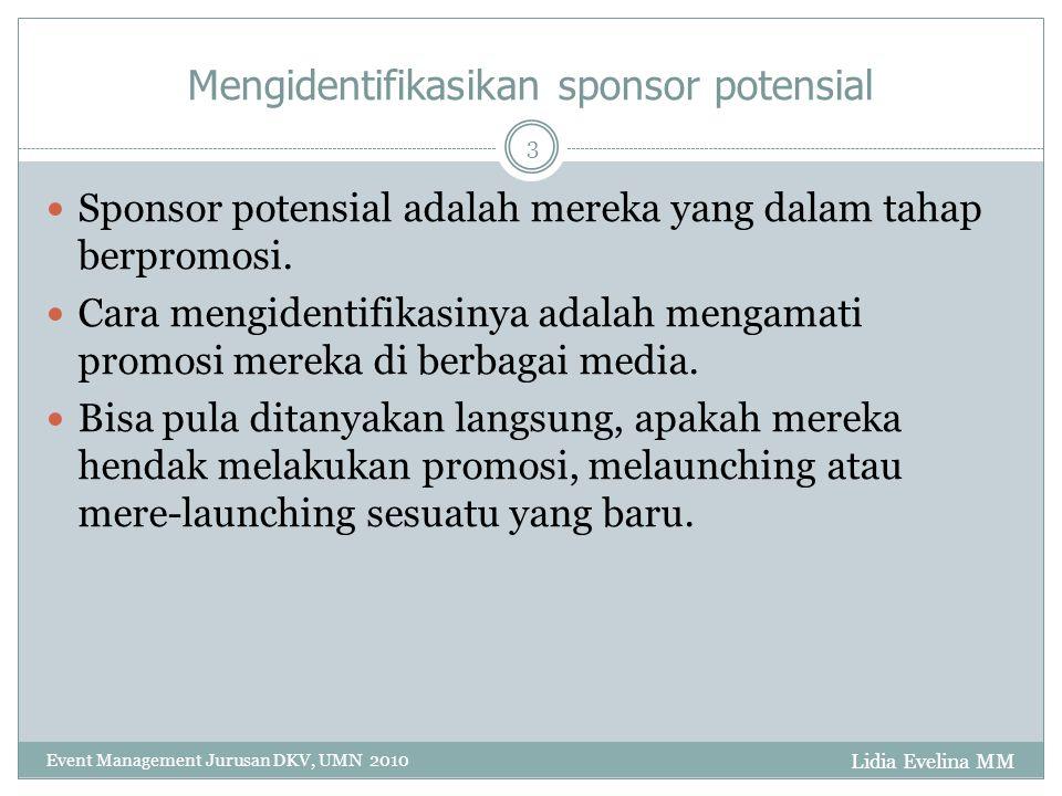 Mengidentifikasikan sponsor potensial