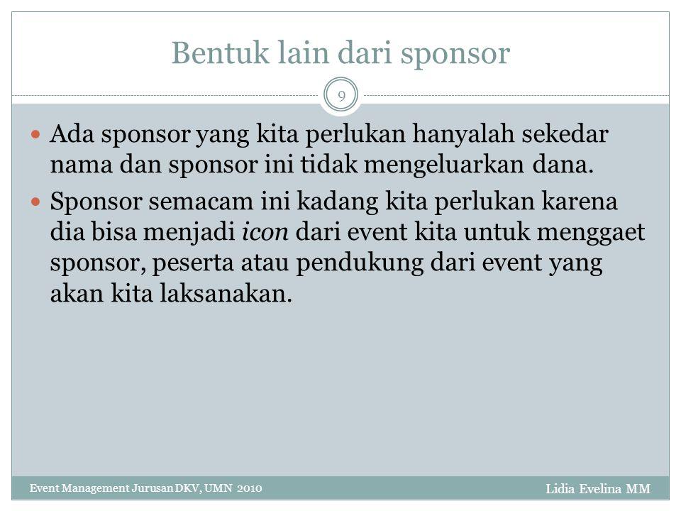 Bentuk lain dari sponsor