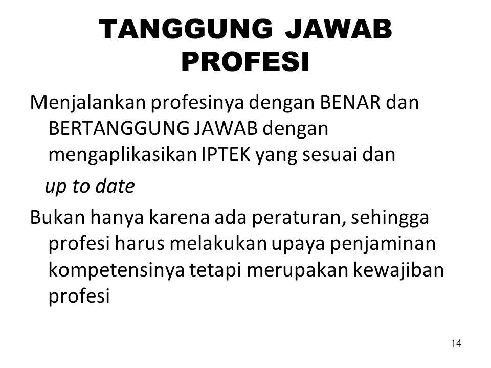 TANGGUNG JAWAB PROFESI