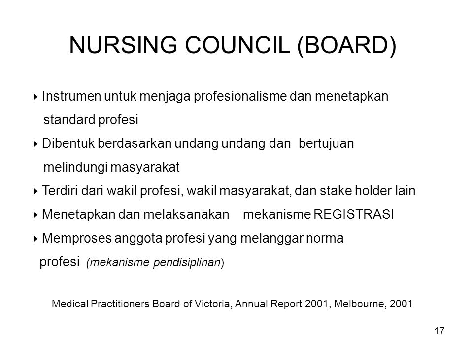NURSING COUNCIL (BOARD)
