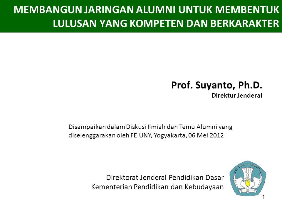 Prof. Suyanto, Ph.D. Direktur Jenderal