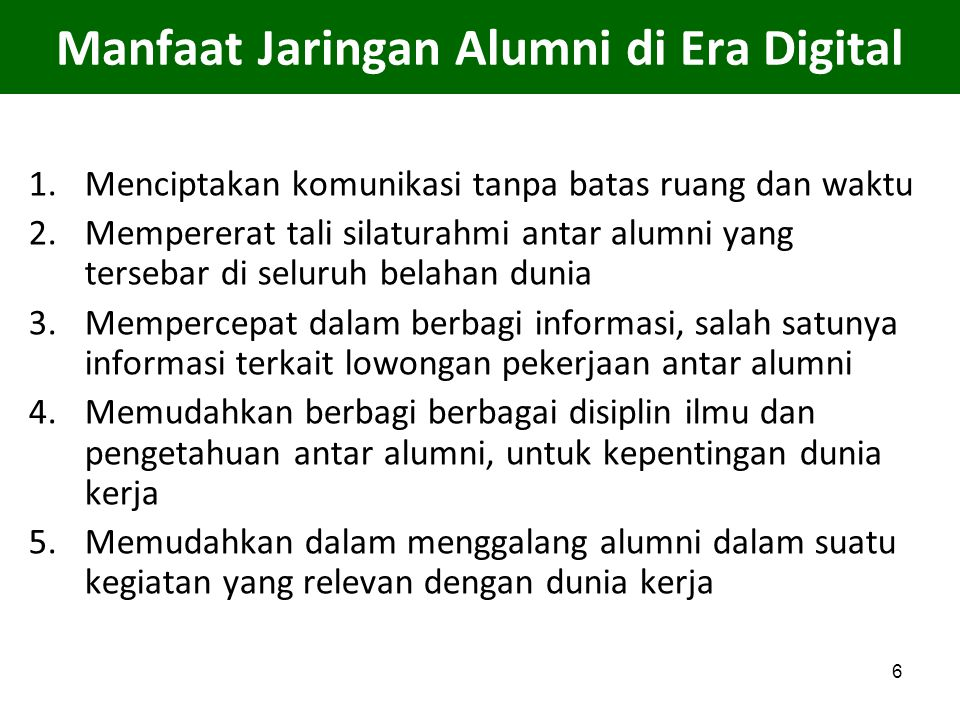 Manfaat Jaringan Alumni di Era Digital