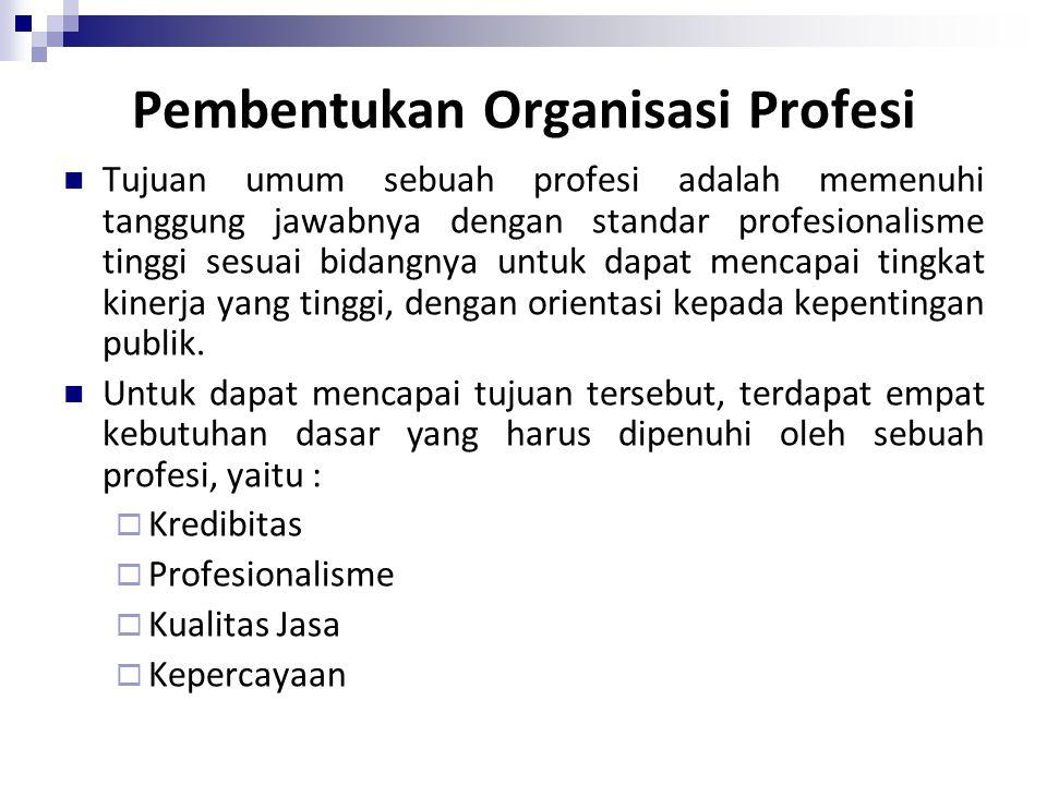 Pembentukan Organisasi Profesi