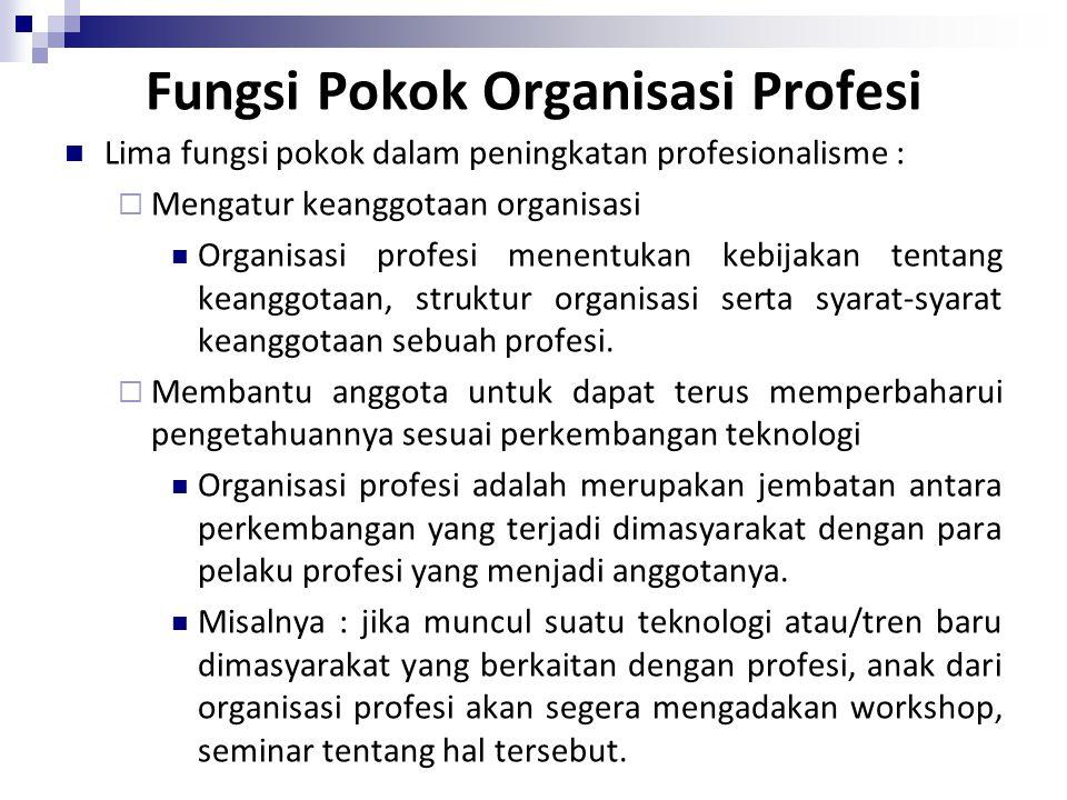 Fungsi Pokok Organisasi Profesi