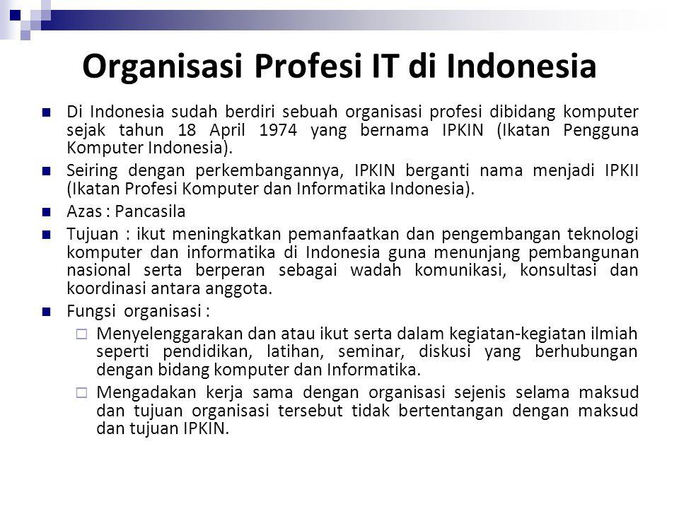 Organisasi Profesi IT di Indonesia