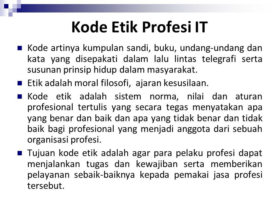Kode Etik Profesi IT