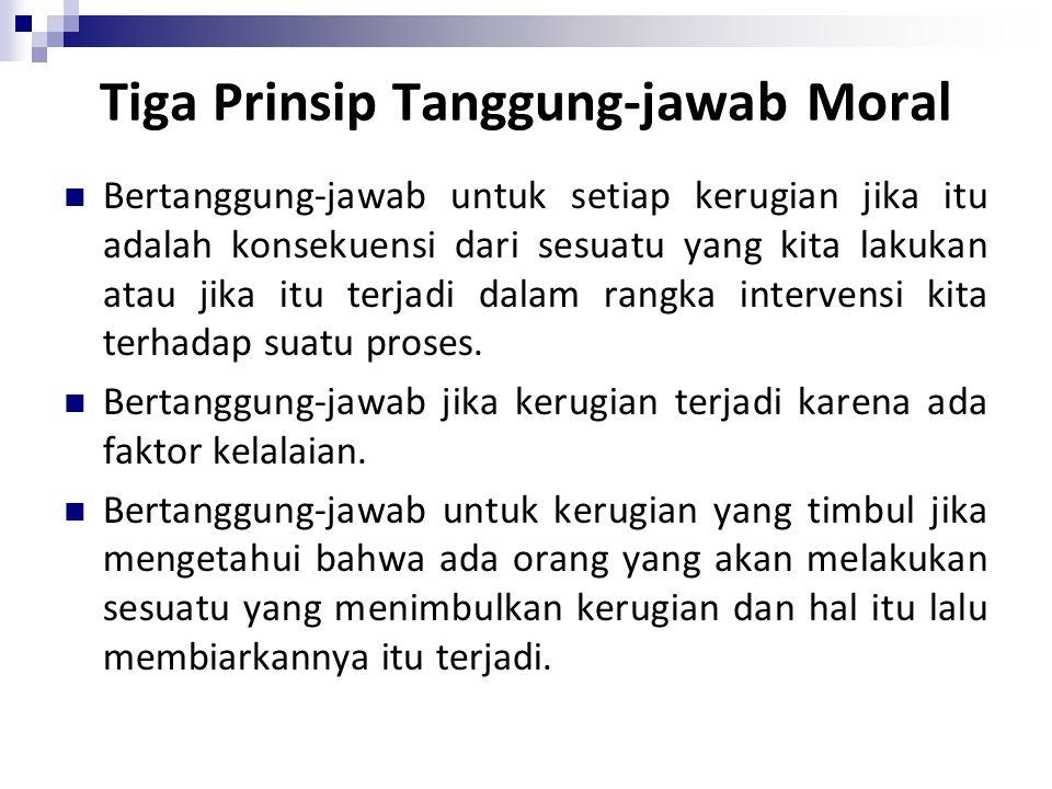 Tiga Prinsip Tanggung-jawab Moral