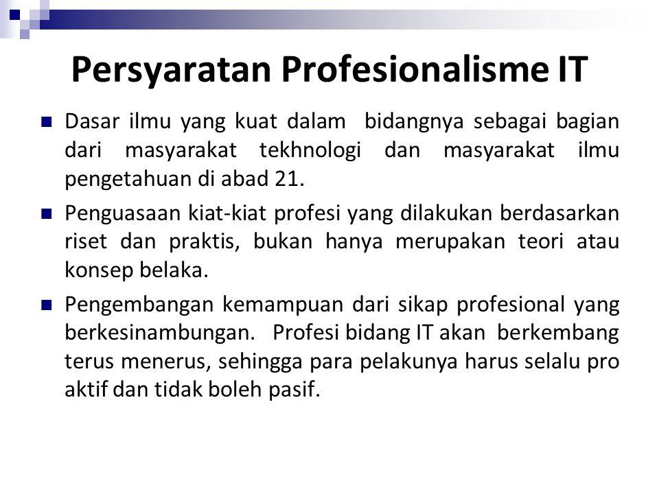Persyaratan Profesionalisme IT