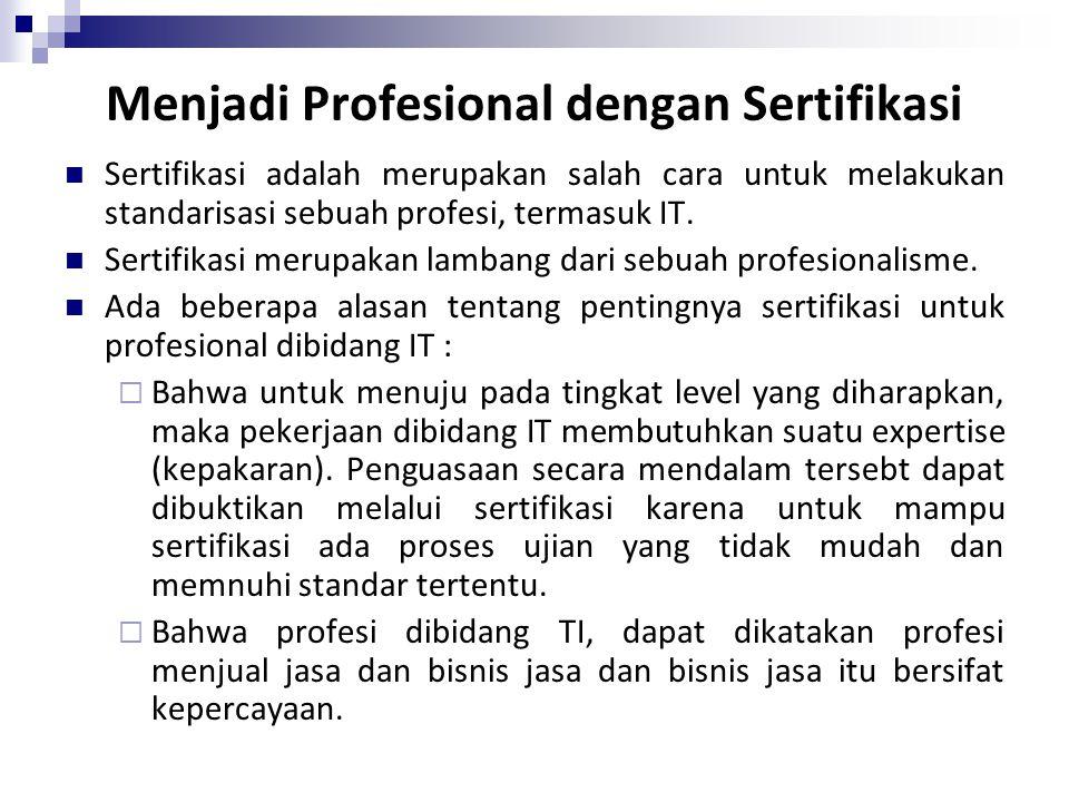 Menjadi Profesional dengan Sertifikasi