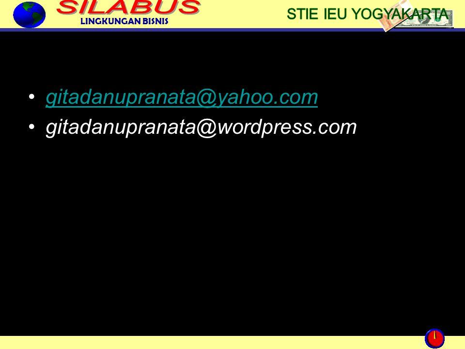 gitadanupranata@yahoo.com gitadanupranata@wordpress.com