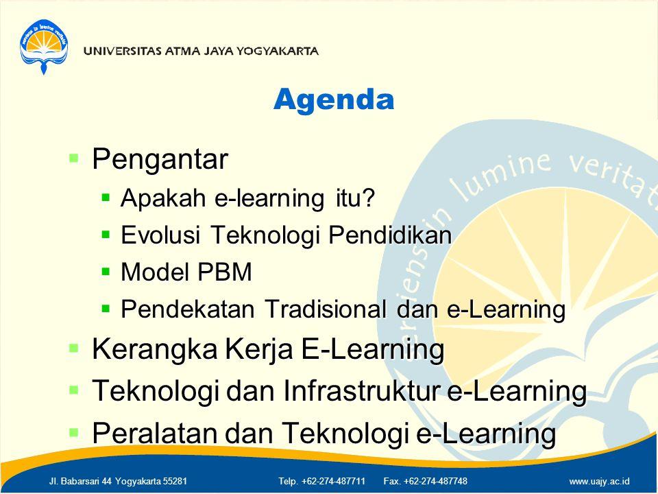Kerangka Kerja E-Learning Teknologi dan Infrastruktur e-Learning
