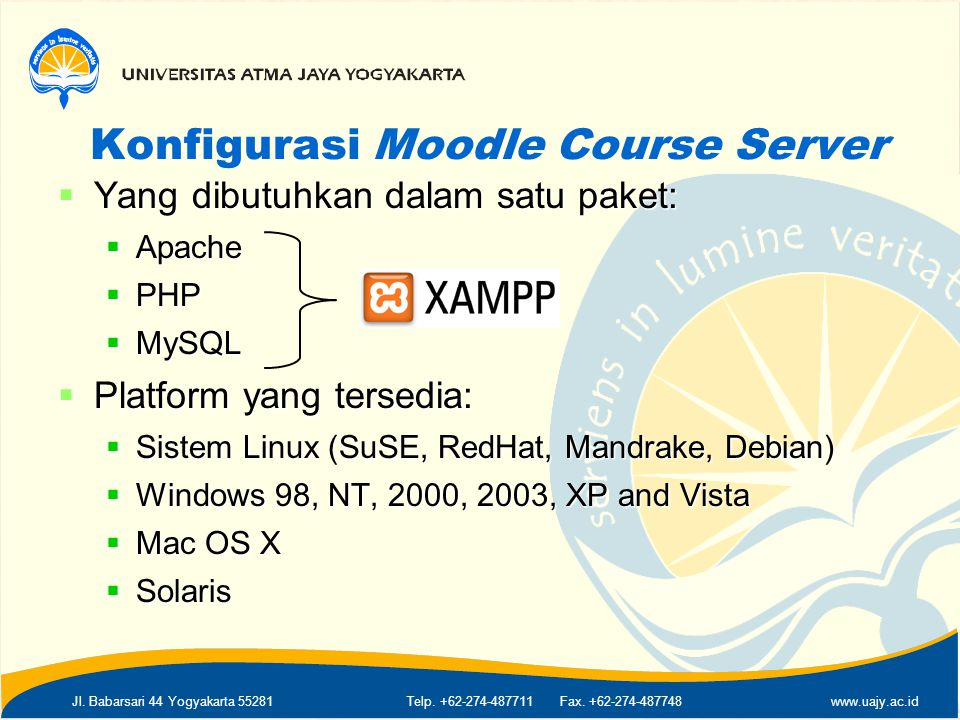 Konfigurasi Moodle Course Server