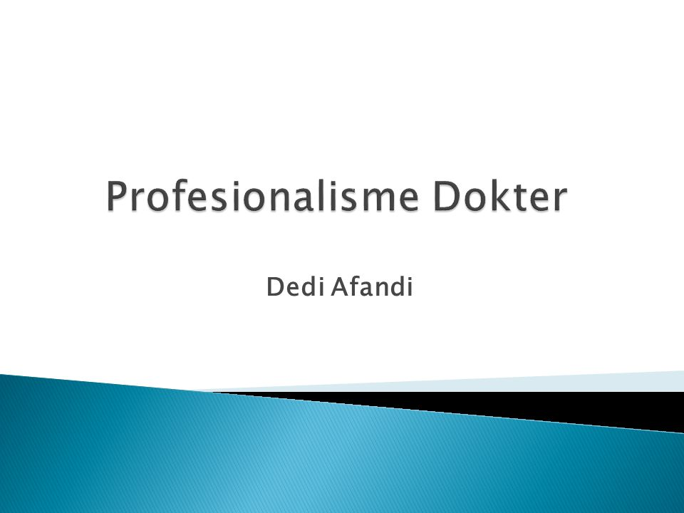Profesionalisme Dokter
