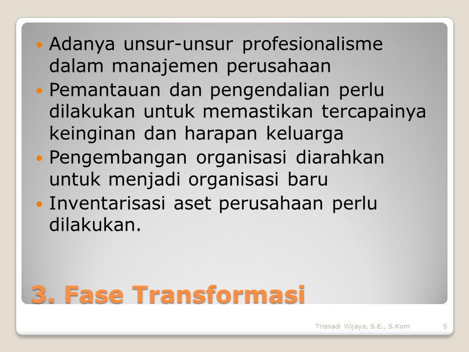 Adanya unsur-unsur profesionalisme dalam manajemen perusahaan
