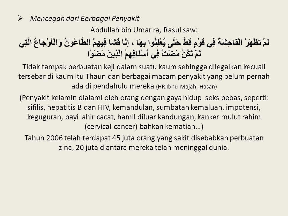 Abdullah bin Umar ra, Rasul saw: