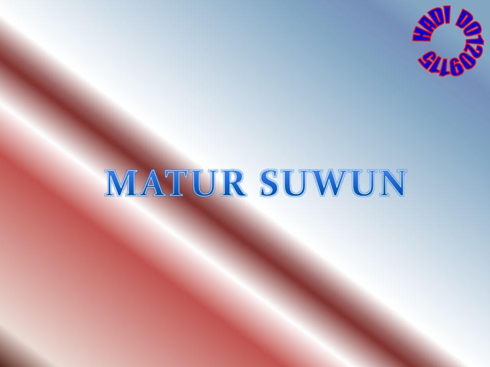 HADI D01209115 MATUR SUWUN
