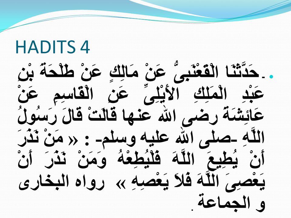 HADITS 4