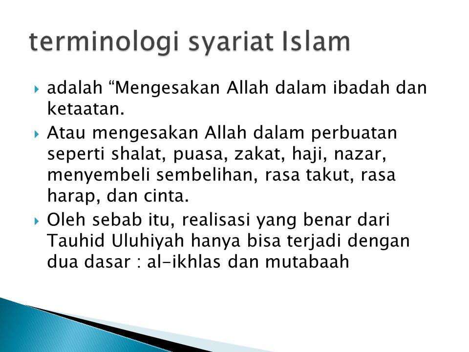 terminologi syariat Islam