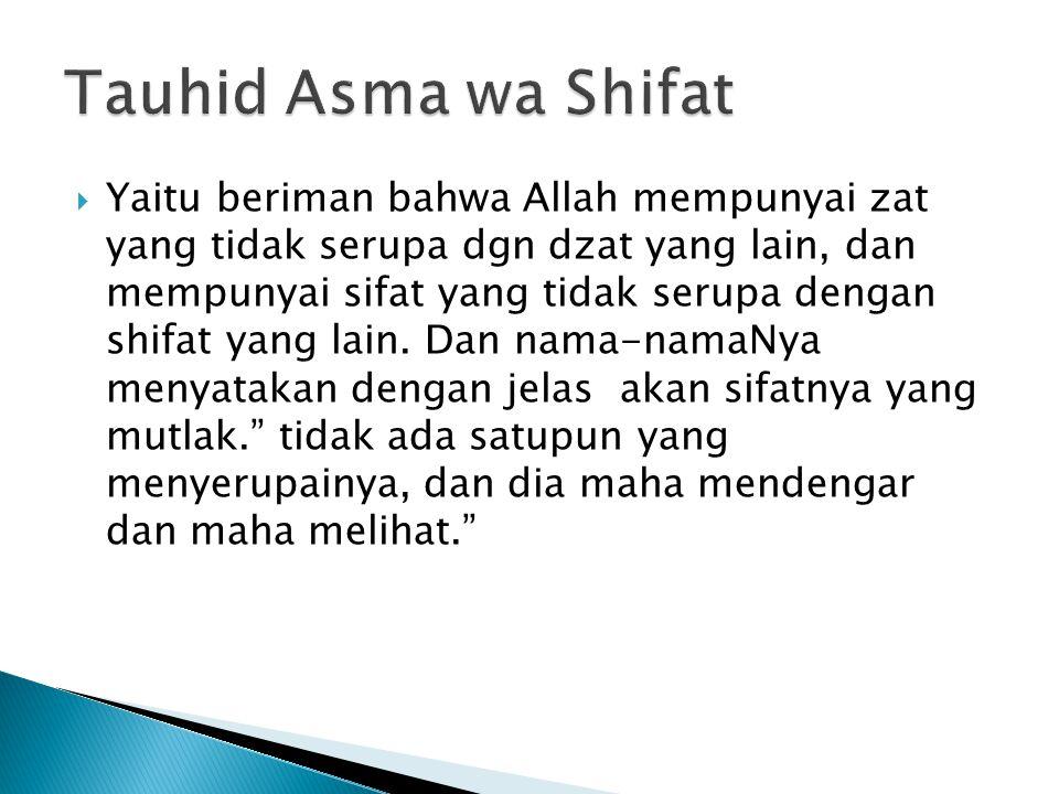 Tauhid Asma wa Shifat