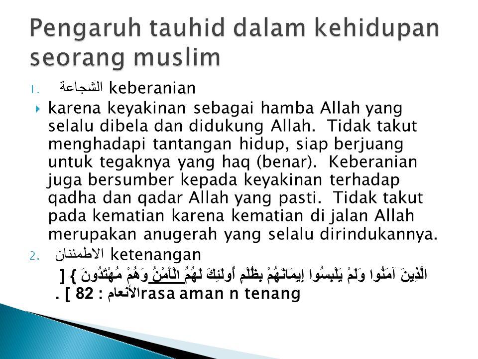 Pengaruh tauhid dalam kehidupan seorang muslim