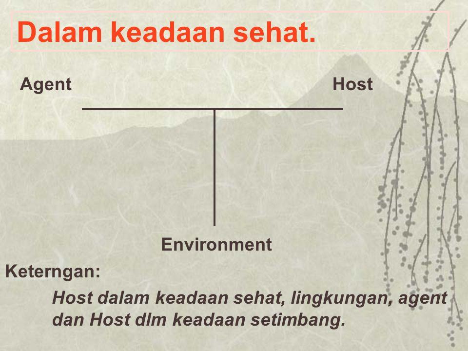 Dalam keadaan sehat. Environment Agent Host Keterngan: