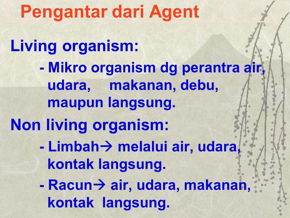 Pengantar dari Agent Living organism: Non living organism: