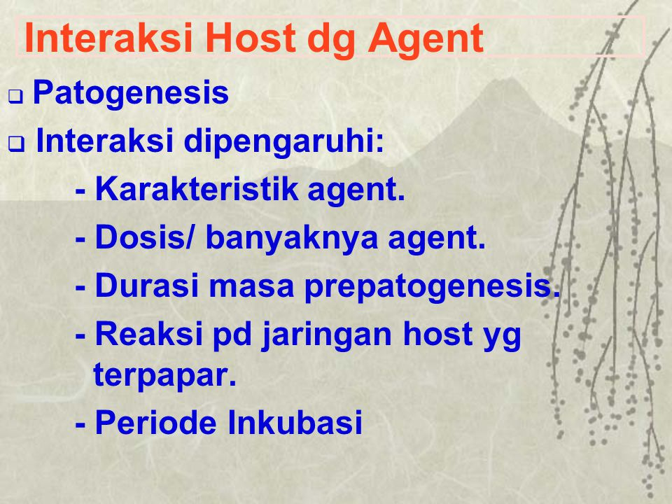 Interaksi Host dg Agent