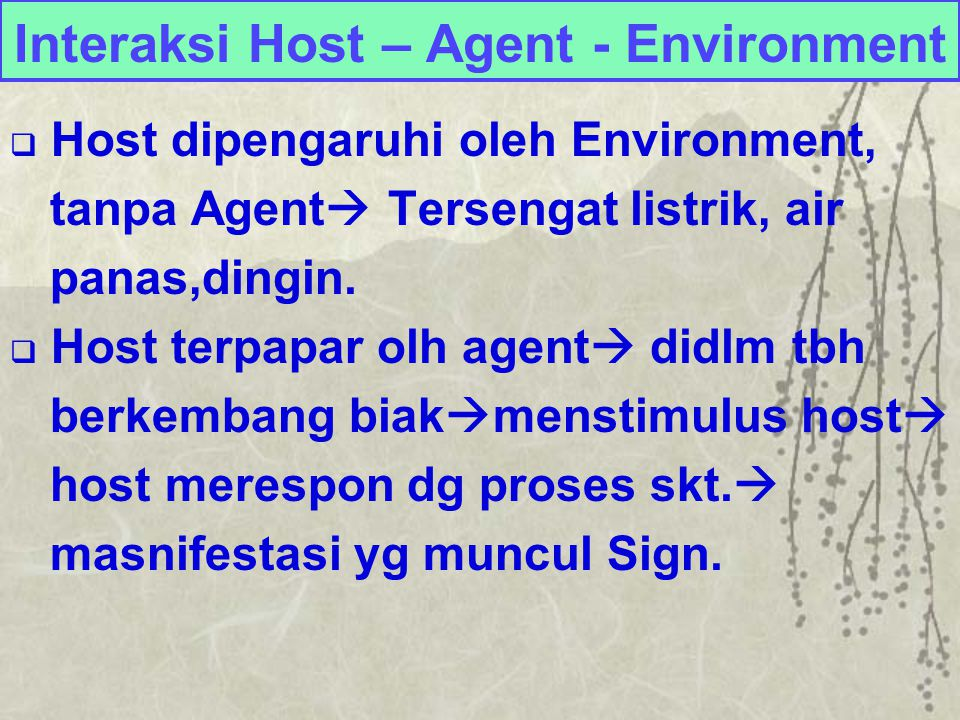 Interaksi Host – Agent - Environment