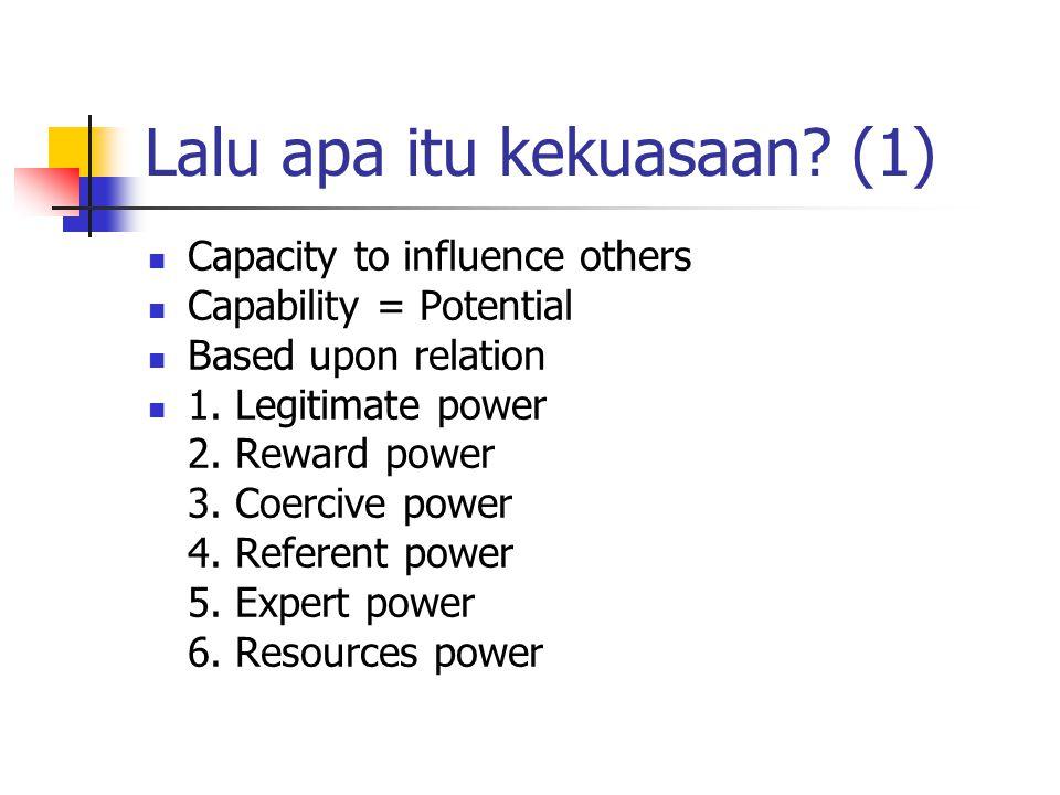 Lalu apa itu kekuasaan (1)