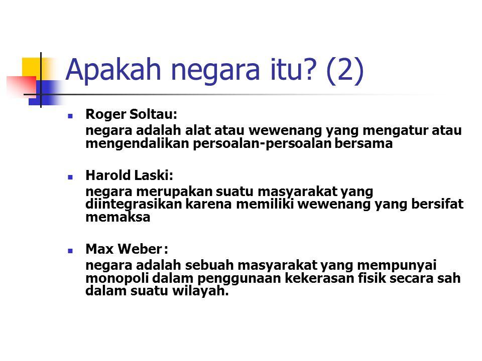 Apakah negara itu (2) Roger Soltau: