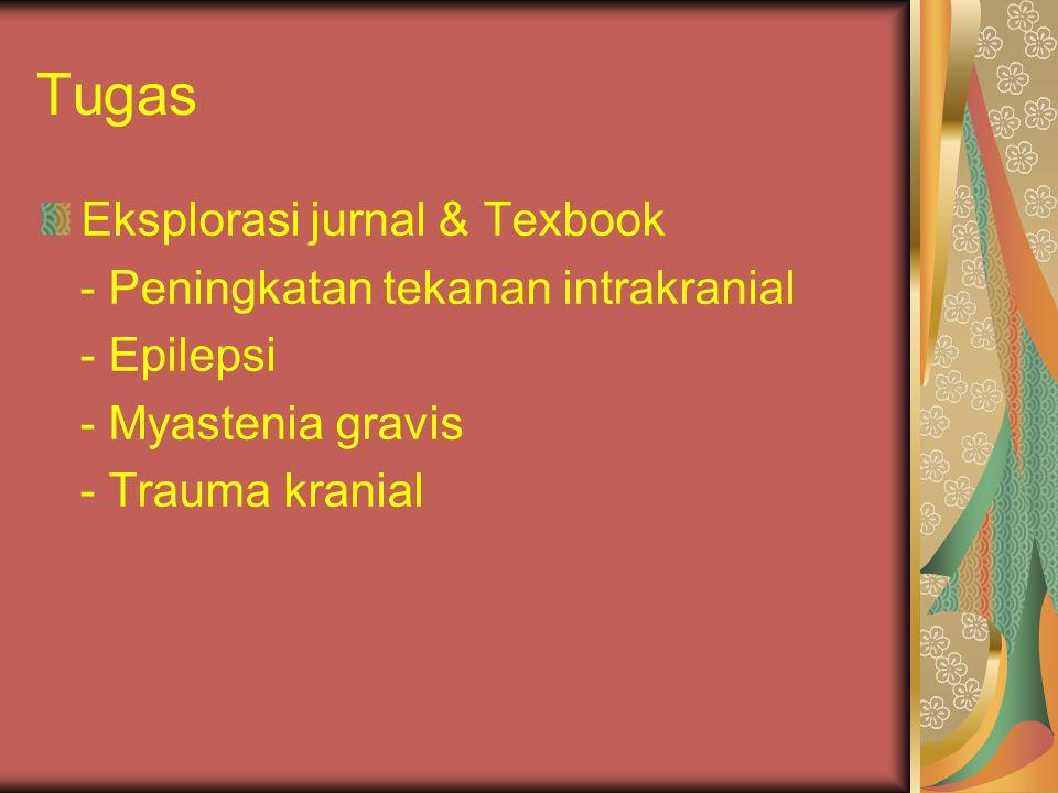 Tugas Eksplorasi jurnal & Texbook - Peningkatan tekanan intrakranial