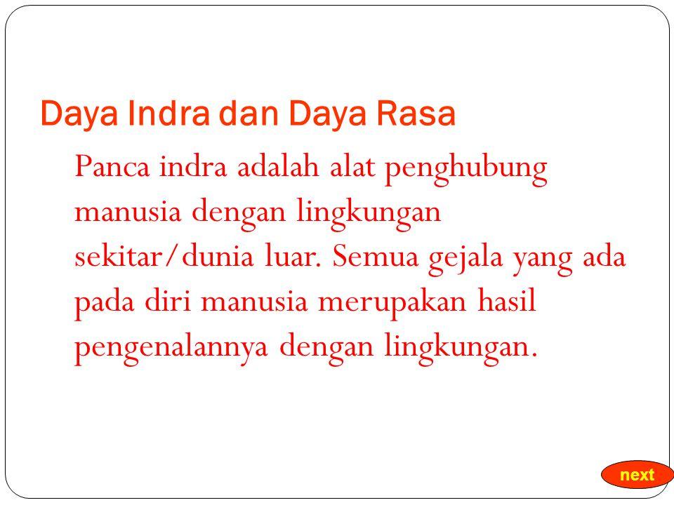 Daya Indra dan Daya Rasa