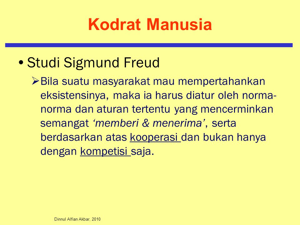 Kodrat Manusia Studi Sigmund Freud