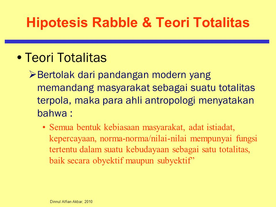 Hipotesis Rabble & Teori Totalitas