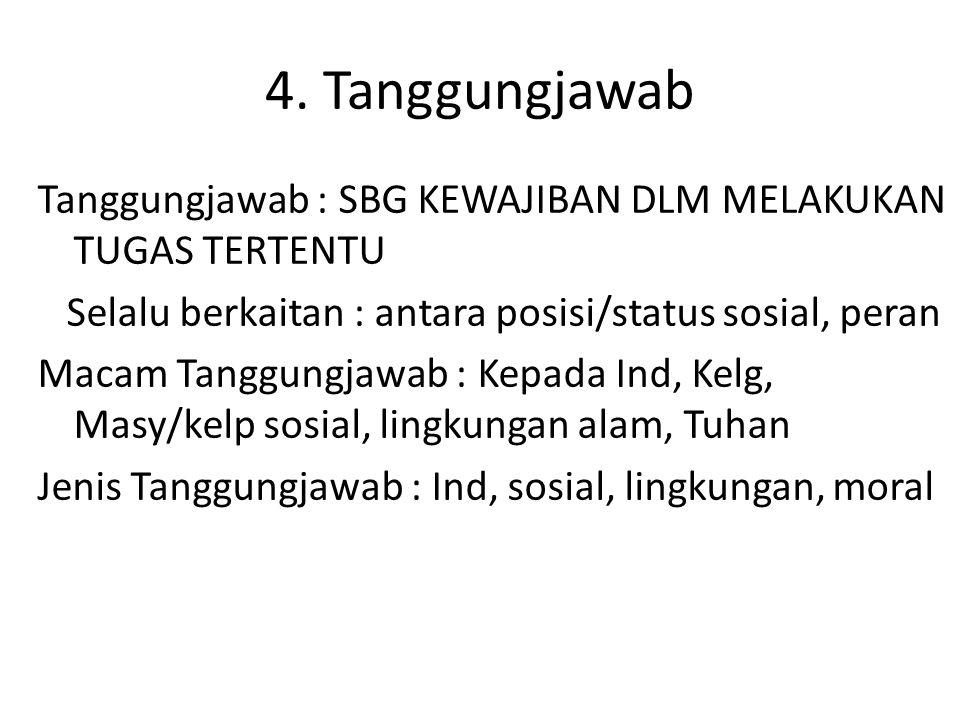4. Tanggungjawab