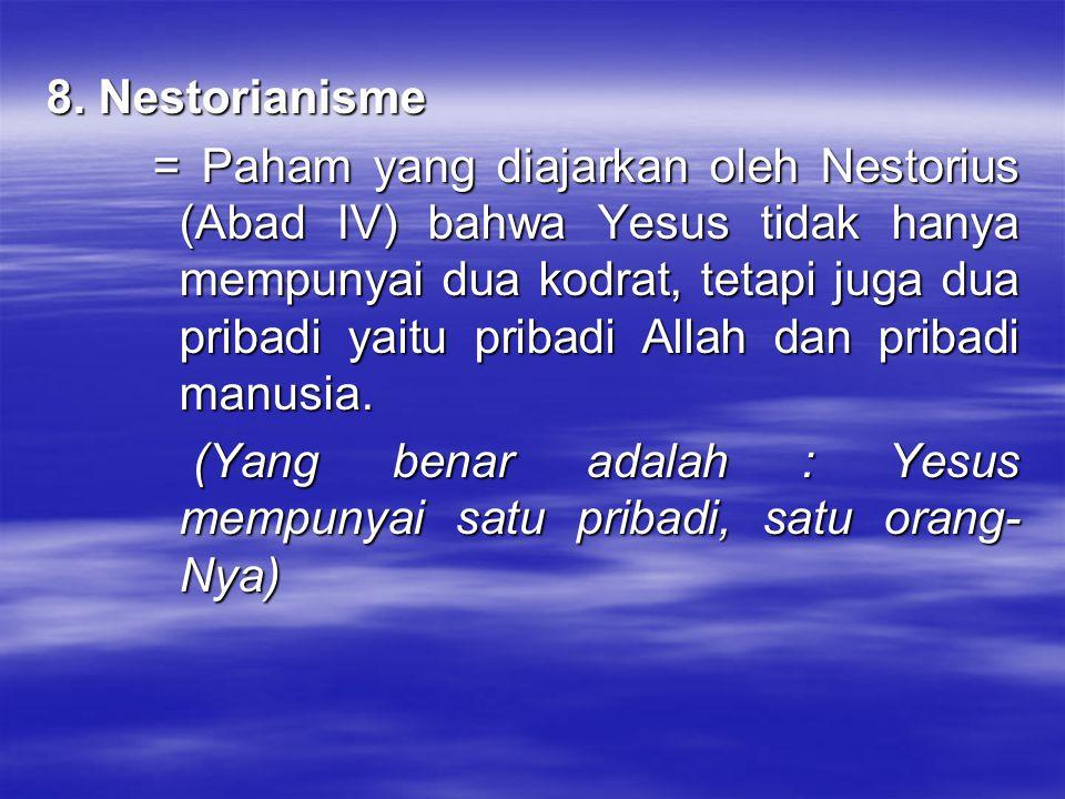 8. Nestorianisme
