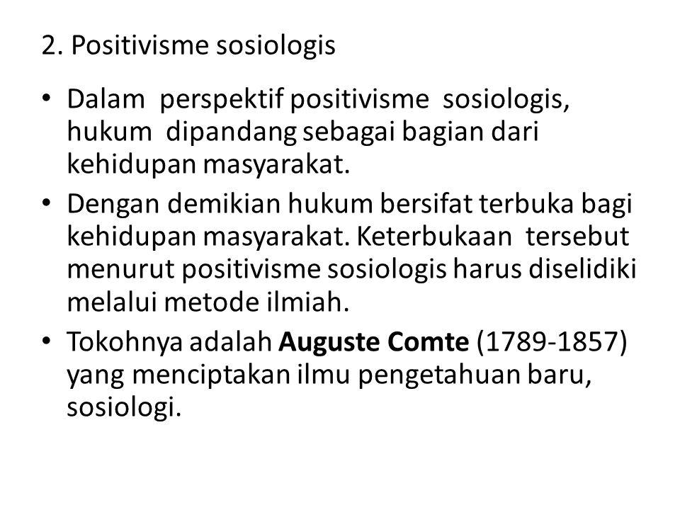 2. Positivisme sosiologis
