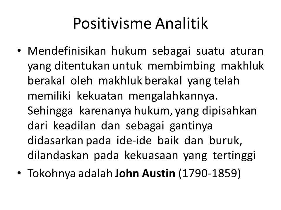Positivisme Analitik