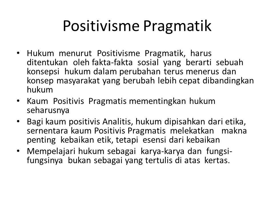Positivisme Pragmatik