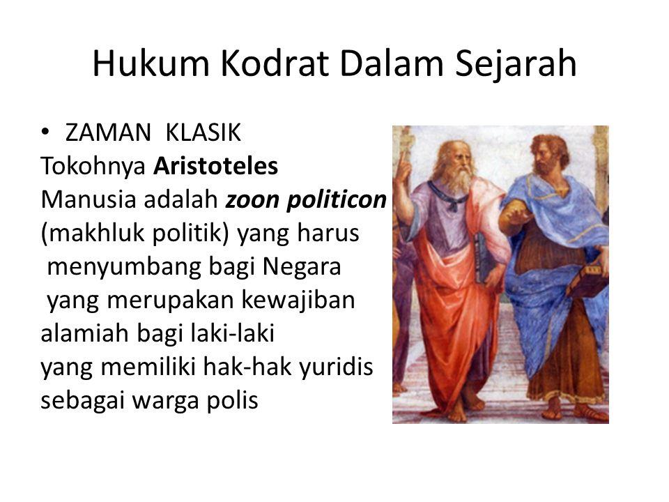 Hukum Kodrat Dalam Sejarah
