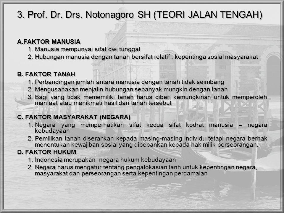 3. Prof. Dr. Drs. Notonagoro SH (TEORI JALAN TENGAH)