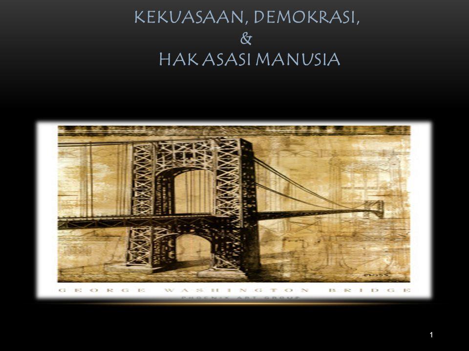 KEKUASAAN, DEMOKRASI, & HAK ASASI MANUSIA