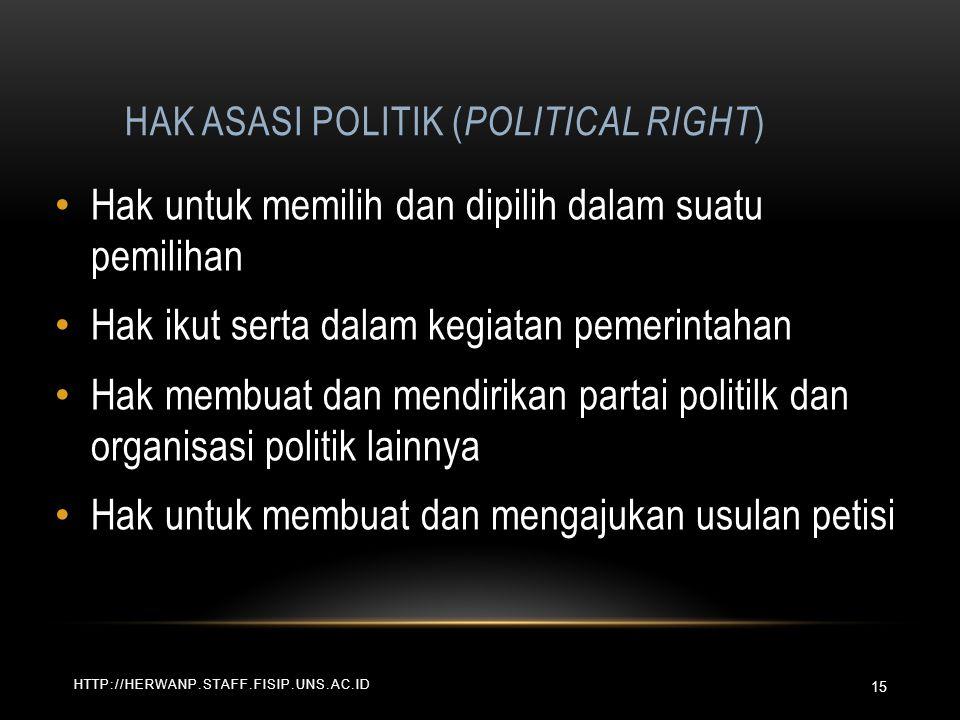 Hak Asasi Politik (Political Right)