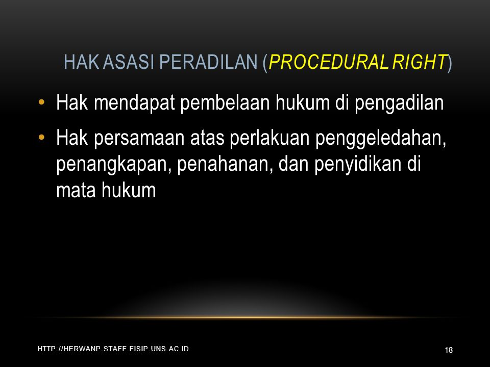 Hak Asasi Peradilan (Procedural Right)