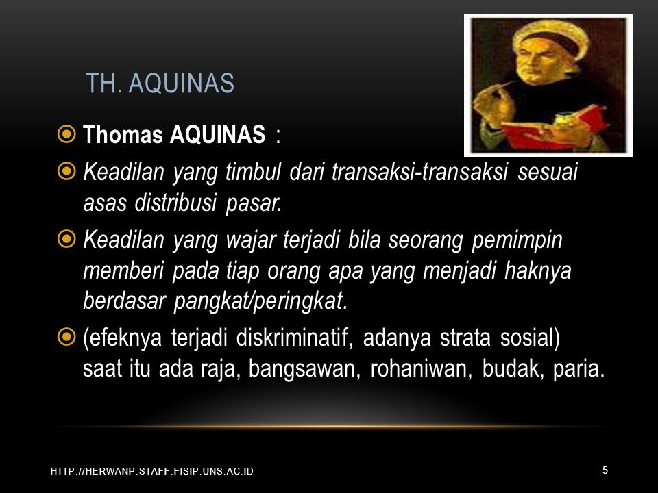 Th. AQUINAS Thomas AQUINAS :
