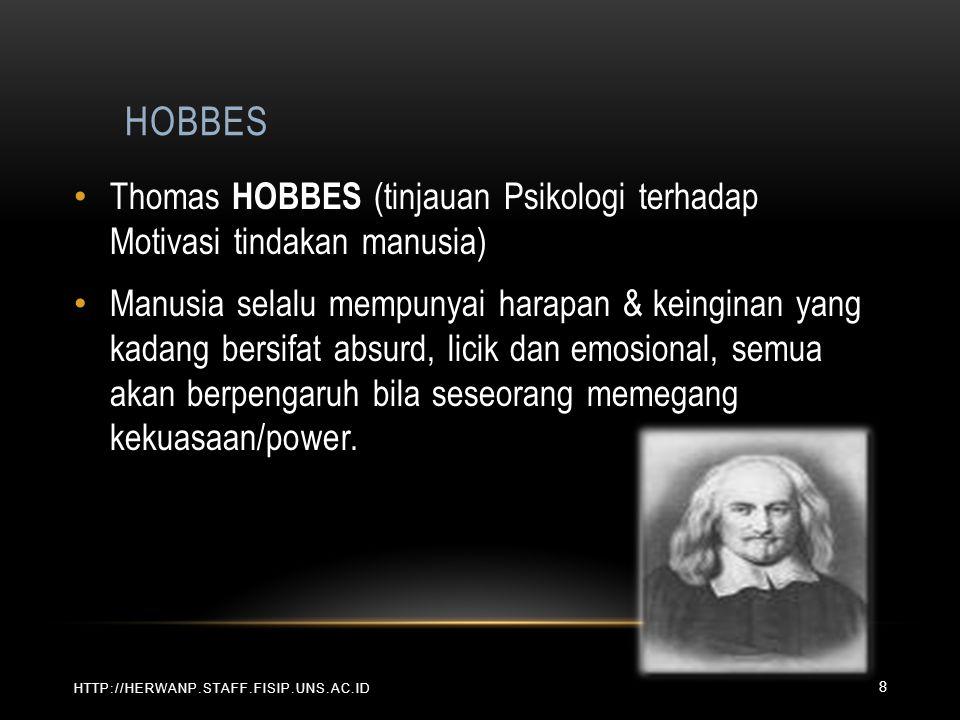 HOBBES Thomas HOBBES (tinjauan Psikologi terhadap Motivasi tindakan manusia)