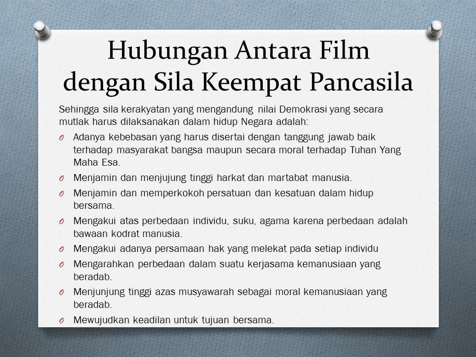 Hubungan Antara Film dengan Sila Keempat Pancasila