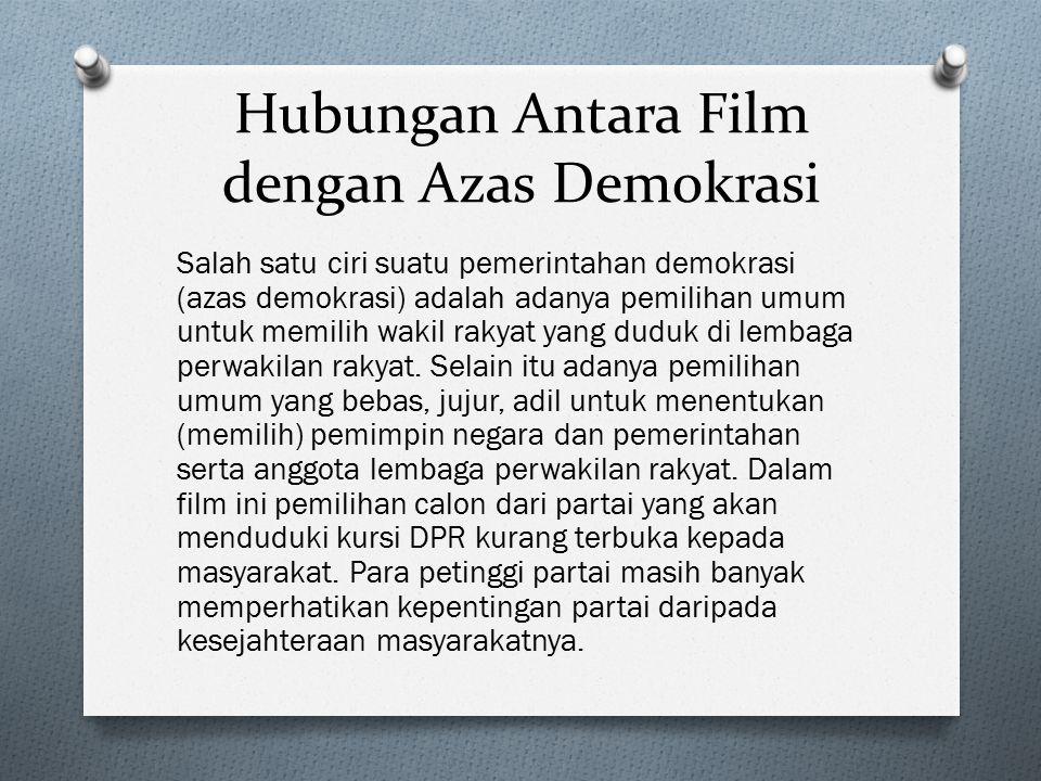 Hubungan Antara Film dengan Azas Demokrasi