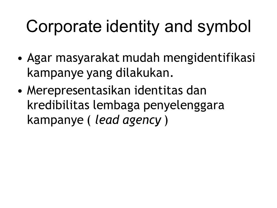 Corporate identity and symbol